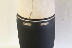 Monochrome vase with hyphens