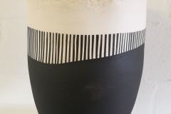 Vase with stripes